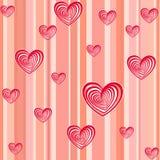 Różowy wektorowy serca tło Obrazy Royalty Free