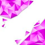 Różowy wieloboka tło zdjęcie royalty free