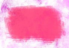 Różowy wodnego koloru grafiki koloru muśnięcie muska łaty Zdjęcia Stock