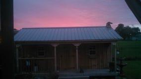 różowy wschód słońca Zdjęcia Stock