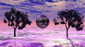 różowy wszechświat Obraz Royalty Free