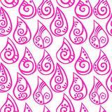 Różowy wzór opuszcza bezszwowego tło royalty ilustracja