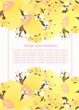 Różowy wzór z jaśminem dla karty również zwrócić corel ilustracji wektora Zdjęcia Royalty Free