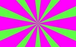 Różowy zielony promienia tła wizerunek Zdjęcia Royalty Free