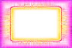 Różowych i żółtych linii rama Obrazy Royalty Free