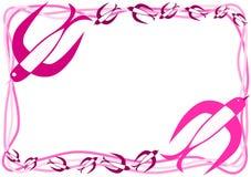 Różowych ptaków zaproszenia ramowa karta royalty ilustracja