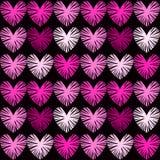 Różowych serc bezszwowy tło royalty ilustracja