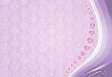 Różowych valentines karciany tło Zdjęcia Royalty Free