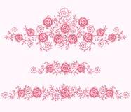 Róży klamerki sztuka ilustracja wektor