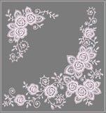 Róży klamerki sztuki kąty ilustracja wektor