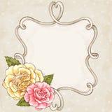 Róży rama Obraz Stock