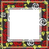 Róży rama Zdjęcie Stock