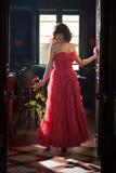 różana czerwieni kobieta Zdjęcie Royalty Free