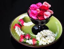 Różana królowa kwiaty i girlanda Fotografia Stock