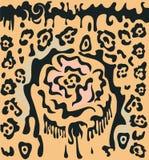 różane lampart plamy ilustracja wektor