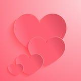 Różani serca na tle Zdjęcia Stock