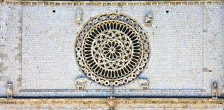 różany bazyliki okno Fotografia Stock