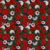 Różany kwiatu wzór Zdjęcie Stock