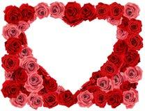 Różany serce Fotografia Stock
