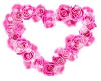 Różany serce Obrazy Royalty Free