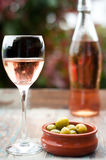 Różany wino Fotografia Royalty Free