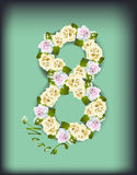 Róże dla kobieta dnia royalty ilustracja