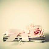 Róże i listy Obraz Stock