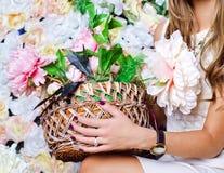 Róże koszykowe zdjęcia royalty free