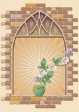 Róże na okno ilustracja wektor