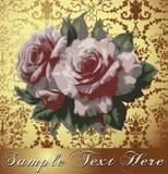 Róże. Rama. Kwiaty. Kartka z pozdrowieniami. Zdjęcia Stock