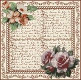 Róże. Rama. Kwiaty. Kartka z pozdrowieniami. Fotografia Royalty Free