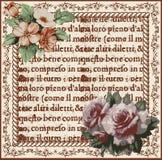 Róże. Rama. Kwiaty. Kartka z pozdrowieniami. Zdjęcia Royalty Free