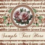 Róże. Rama. Kwiaty. Kartka z pozdrowieniami. Fotografia Stock