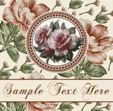 Róże. Rama. Kwiaty. Kartka z pozdrowieniami. Obraz Stock