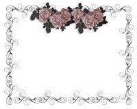 róże za zaproszenie Obraz Royalty Free
