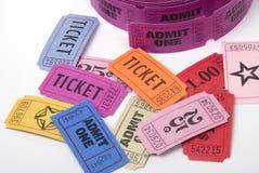 różne bilety Zdjęcie Stock