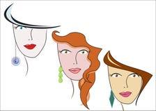 różne fryzury trzy typ Zdjęcie Stock