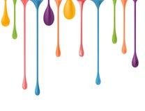 Różne kolorowe krople Obraz Royalty Free
