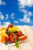 Różne owoc na stole Fotografia Royalty Free