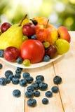 Różne owoc na stole Zdjęcie Stock