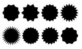Różne Sunburst wektoru odznaki Obrazy Royalty Free
