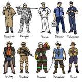 Różni ludzie rysunków Zdjęcia Stock