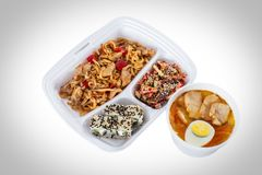 Różni naczynia w jeden talerzu Zdjęcie Stock