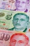 Różni Singapur dolara banknoty Obrazy Royalty Free