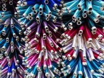 Różni wzory - kolorowe nici Fotografia Royalty Free