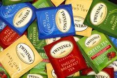 Różnica Twinings herbaciane torby Zdjęcie Royalty Free