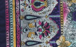 Różnobarwna ethno tkanina Zdjęcie Royalty Free