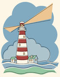 Różnobarwna Latarnia morska Obraz Royalty Free