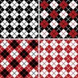 różnokolorowy wzór w robieniu na drutach arlekinu schematu Fotografia Stock
