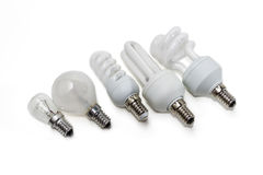 Różnorodna elektryczna lampa Obraz Royalty Free